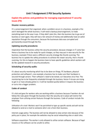 ESSAY: Unit 7 Organisational Systems Security (Part 2 of 2)
