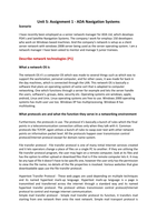 ESSAY: Unit 5 Managing Networks (Part 1 Of 4)