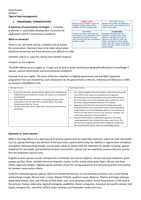 SUMMARY:  How to manage biodiversity: OCR Biology and Edexcel Geography