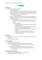 LECTURE NOTES: 05. Institutions 2 - The Crown and the Royal Prerogative