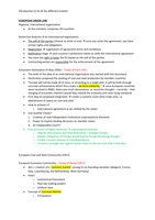 LECTURE NOTES: 01 Introduction to EU Law & the Treaties