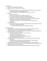 LECTURE NOTES: Overview of Therapy