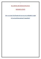 ESSAY: Dissertation