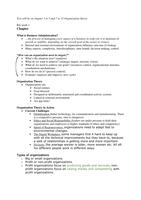 SUMMARY: Organization Theory and Design