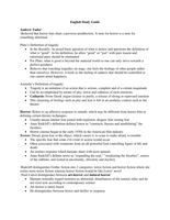 LECTURE NOTES:  ENG 2136 Study Guide