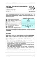 Exam: BPP PLR and Writing Assessment