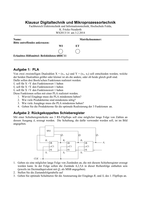 Prüfung: Digitaltechnik Klausur WS14