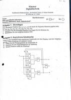 Prüfung: Digitaltechnik Klausuren + Lösungen