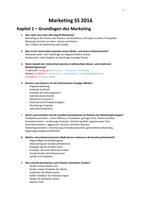 ZUSAMMENFASSUNG: Zusammenfassung Marketing Klausur WI - Lenz
