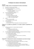 NOTES DE COURS:  Technique du commerce international DUT TC