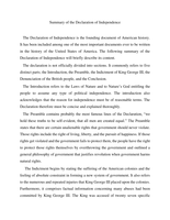 a review of the western civilization mastery writing the declaration of independence