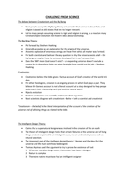 SUMMARY: Challenge to Science notes (Religious Studies)