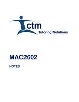 SUMMARY: MAC2602 SUMMARIZED NOTES