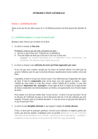 NOTES DE COURS: Introduction générale au droit