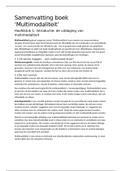 SAMENVATTING: Samenvatting boek 'Multimodality' H1-H7