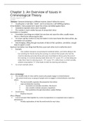 LECTURE NOTES: Chapter 1: An Overview of Issues in Criminological Theory