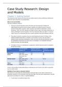 SUMMARY: Kwalitatieve Onderzoeksmethodologie 'Case Study Research' Samenvatting