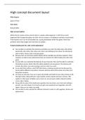 ESSAY: Unit 40 - Games Design Assignment 3 (High Concept Document)