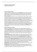 SUMMARY: Samenvatting Testing for Language Teachers (Methodology IV)