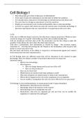 SUMMARY: Summary Experimental Cell Biology I