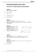 Tentamen: Wiskunde B 4 VWO Getal en Ruimte oefentoets Hoofdstuk 3: Vergelijkingen en herleidingen