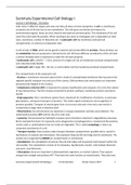 SAMENVATTING: Summary Experimental Cell Biology I