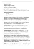 SAMENVATTING: H6: Denken en intelligentie - Psychologie een inleiding 8e editie