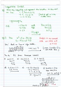 LECTURE NOTES: Inequalities