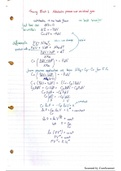 LECTURE NOTES: Derivations and Proofs of Thermal Physics