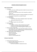 LECTURE NOTES: Introduction to Business Management Lecture 3