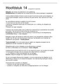 SAMENVATTING: Management en Organisatie H14