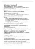 SAMENVATTING: Laagland literatuur cursus 8 & 9