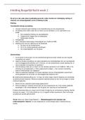 SAMENVATTING: Inleiding Burgerlijk Recht aantekeningen + samenvatting week 2