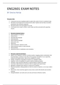 Exam: ENG2601 EXAM NOTES, Memo's and summaries