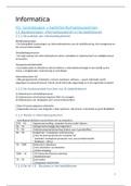 SAMENVATTING: Samenvatting informatica