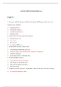 Exam: HSA 520 MIDTERM EXAM PART 1 & 2