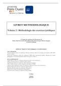 NOTES DE COURS: méthodologie des exercices juridiques