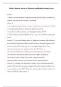 Exam: MN551 Midterm-Advanced Physiology and Pathophysiology Across