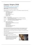 SAMENVATTING: Summary lectures Cosmic Origins