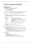 SAMENVATTING: Samenvatting hoorcolleges Endocrinologie