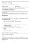 SAMENVATTING: Management accounting