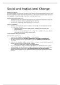 SAMENVATTING: Summary lectures Social and Institutional Change