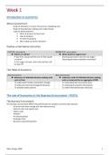 SAMENVATTING: Economics and Business environment