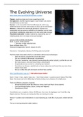SAMENVATTING: Summary lectures The Evolving Universe