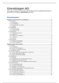 SAMENVATTING: Organisation Samenvatting, grondslagen AO --> deel A