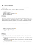 Exam: ENGLISH 1 Lesson 1, Exam 2
