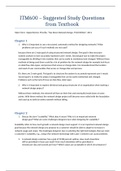 Exam: ITM600 - Final Exam Review Questions from Textbook