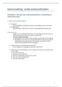 SAMENVATTING: Samenvatting Onderzoeksmethoden