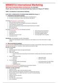 SUMMARY: MNM3711 International Marketing Notes