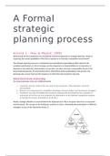 SUMMARY: Summary Strategy & Organization articles week 4